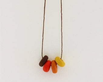 Handmade Fimo/Clay Beaded Necklace