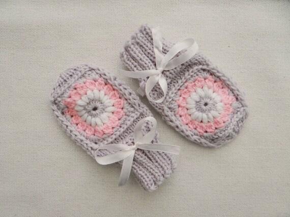 Newborn mittens knit baby mittens crochet baby mittens by ...