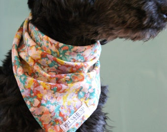 Dog bandana Summer Rain in bright pastels