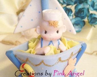 1PC Sailor Cake Topper, Nautical Cake Topper, Cake Toppers, Sailor Topper, Cake Decoration, Sailor Cake Topper
