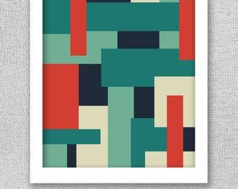 Geometric Art, Mid Century Modern Art, Printable Art, Printable Poster, Modern Print, Geometric Poster, Digital Art Print