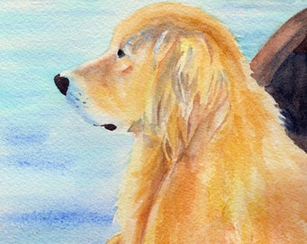 Father's Day Golden Retriever Dog in Boat Card.  Inside card: Dad, You are the best in every way!  Happy Father's Day
