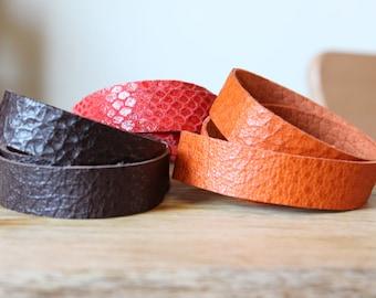 Leather Bracelet, Triple Wrap Bracelet, handmade leather bracelet