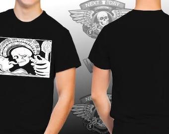 Black and white Skull shirt with original artwork