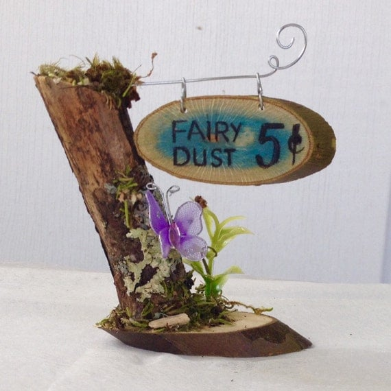 Enchanted Miniature Sign Fairy Dust Fairy Garden