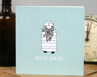 Hello Sailor Card