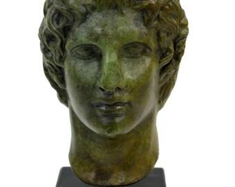 Great Alexander bronze head bust