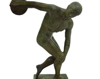 Diskobolus of Myron bronze discus thrower sculpture statue
