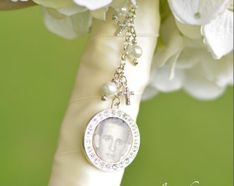 Wedding Bouquet Charm - Bridal Bouquet Photo Charm - Bridal Bouquet Photo Pendant - Wedding Bouquet Memorial Charm - Bridal Gift