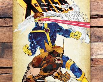 90's X-Men Wolverine, Cyclops & Iceman Metal Plate