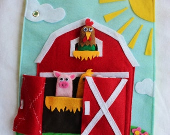 """Custom Quiet Book Page """"Farm"""" -Single Page to Expand Your Personalized Quiet Book"""