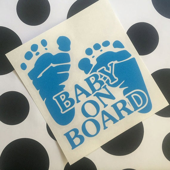 Items Similar To Baby On Board Vinyl Decal Baby