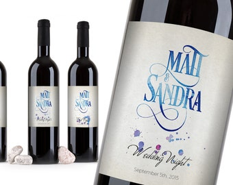 Customized Kit of First's Wine Labels. WEDDING FIRSTS LABELS