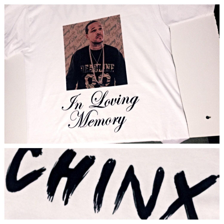 Shirt rip design - Queens Chinx Drugz In Loving Memory Rip Custom Made 100 Cotton Shirt