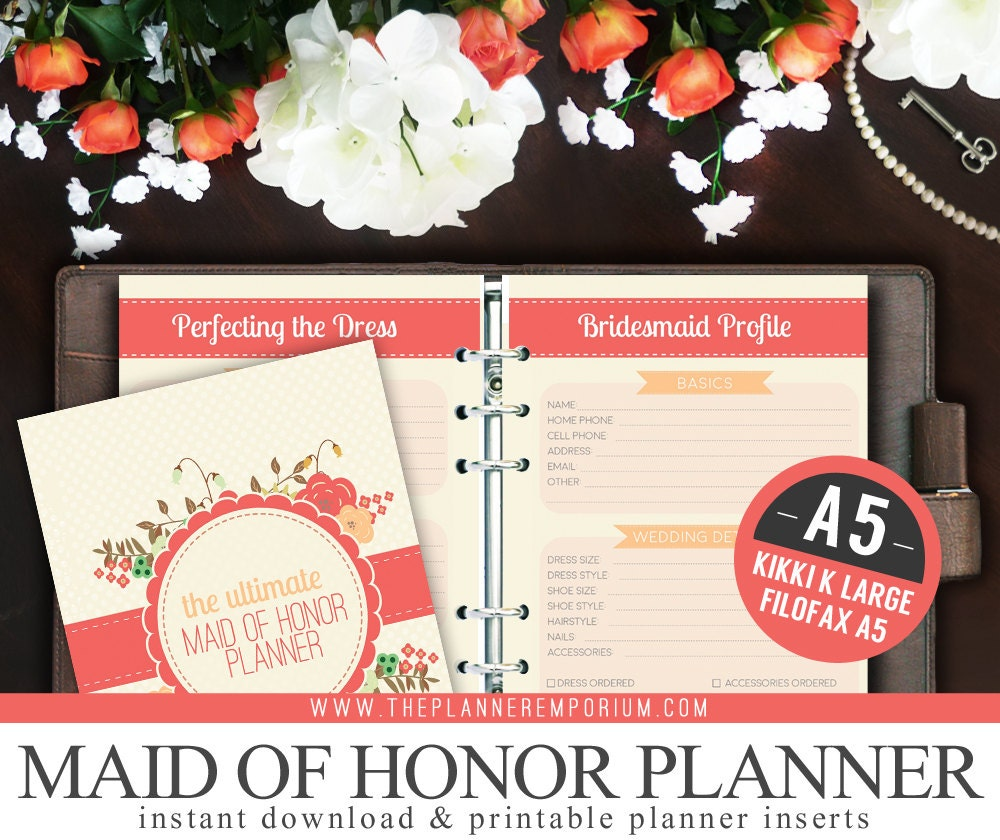 A5 Ultimate Maid Of Honor Wedding Planner Organizer Kit