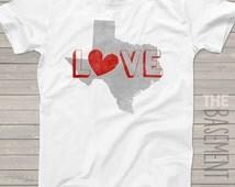Texas shirt  love texas shirt - i heart texas - state of texas t-shirt - choose any state shirt - unisex t-shirt states