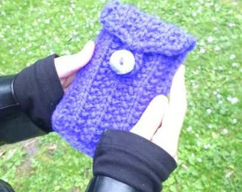 Hand knitted phone case.