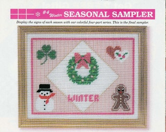 Winter Holiday's Sampler in Plastic Canvas
