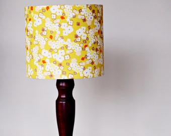 Mustard Lamp Shade, Floral Lampshade, Yellow Lampshade, Lampshade, Mustard  Home Decor,