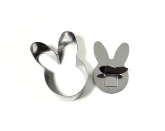 Silver Bunny Rice Press // Sushi Rice Mold // Small Rabbit Shaped Rice Compactor // Bunny Cookie + Dough Cutter