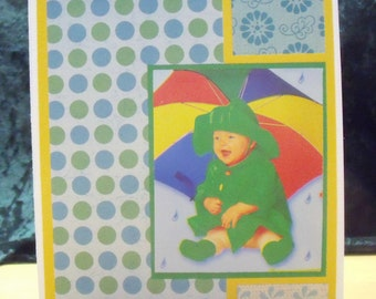 Baby Shower (Baby & Unbrella) Card