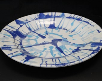 Swirl Plate, Blue Charger