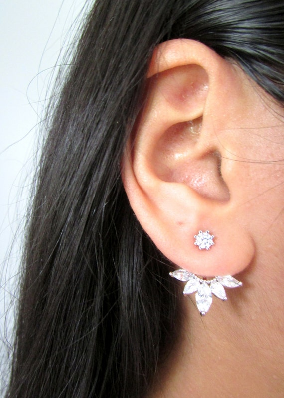 NEW Best Selling Trendy Silver CZ Climber Cuff Earring Ear