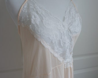 Peach Satin Nightgown