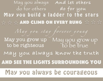 "forever young lyrics print / ""parenthood"" theme song"