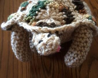 Handmade Crocheted Stuffed Turtle