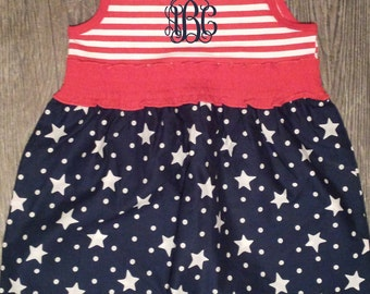 July 4th Monogrammed Dress
