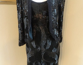 VTG Sequin Beaded Dress and Jacket