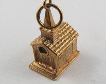 Wedding Chapel With Stanhope 10K Gold Vintage Charm For Bracelet