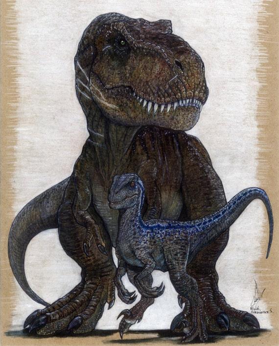 Jurassic World Blue And Rexy Fallen Kingdom Ver By: Items Similar To Blue And Rexy, Jurassic Word Original