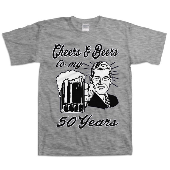 Retro Man 50th Birthday Shirt Gift For Fifty Year Old Cheers