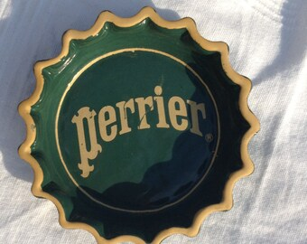 Perrier advertising ashtray