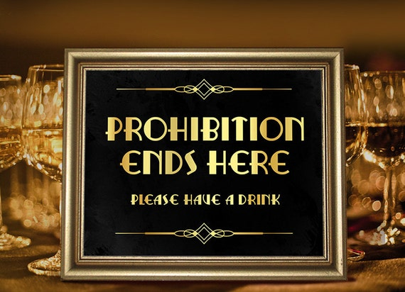 Great Gatsby party decorations. Party supplies. Prohibition