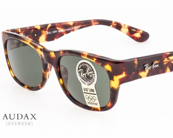 Ray Ban Bohemian W1415 VSAL rectangular sunglasses in Virginia Tabacco colour and B&L G15 lenses, frame France 1980s