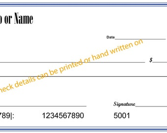 "Giant Check DESIGN ONLY -Oversize Check 12x24"", 18x36"" or 24x48"" -Novelty Check -Presentation Check -Big Check -Charity Checks"