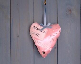 Satin Heart Lavender bag