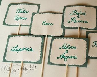 10 wedding candy tastes cards