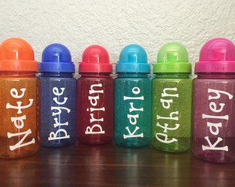 Personalized Kids Sport Water Bottle with Cap