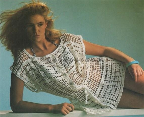 Vintage Crochet Pattern to make A Ladies Pretty Openwork Over