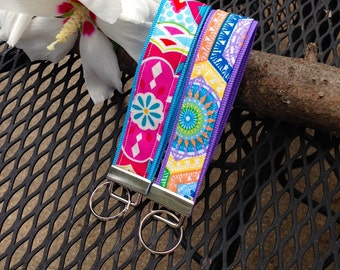 Key Fob Wristlet - Colorful, Bright, Summer