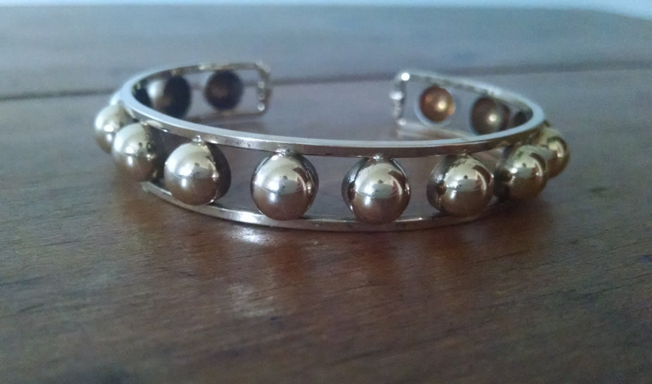 sale vintage krementz gold plated cuff bracelet