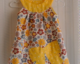 Flowers and Polka Dot summer dress 1T