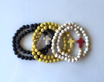 Custom Double Wrap Rosary Bracelet