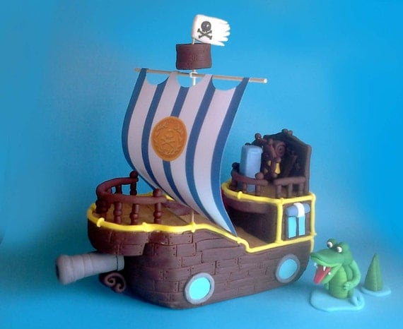 pirate ship wedding cake topper fondant pirate ship cake topper bucky from jake and 18617