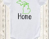Home State baby onesie ALL 50 STATES AVAILABLE Oklahoma Oregon Pennsylvania Rhode Island South Carolina South Dakota Tennessee Texas oneise