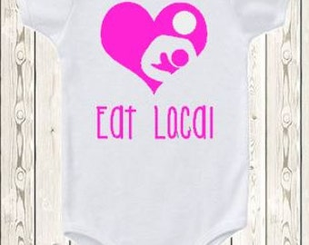 Eat Local Breastfeeding ONESIE ® brand bodysuit or shirt Breastfeeding logo Breastfeeding heart nursing shirt new baby baby shower gift